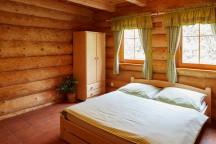 Ubytování v Adršpachu ve srubu u Peteho - ložnice