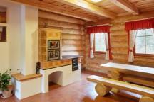 Ubytování v Adršpachu ve srubu u Peteho - srubový interiér
